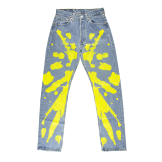 hand-painted denim pants