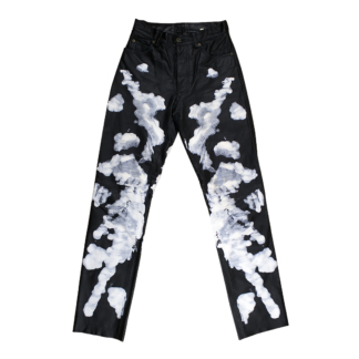 hand-painted leather pants