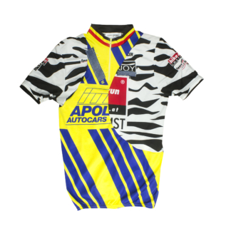 patchwork cycling jersey