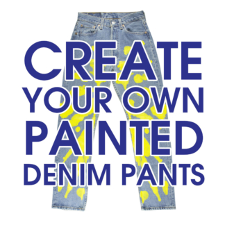 create your own painted denim pants