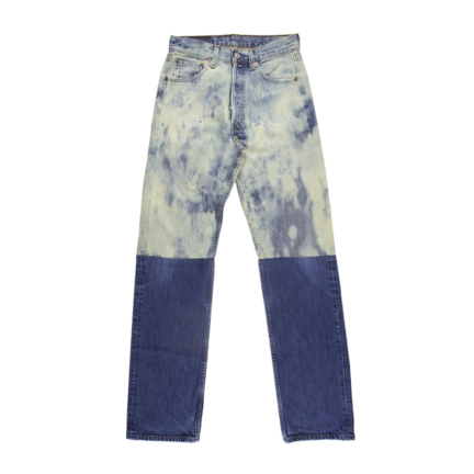 tie dye & plein denim pants