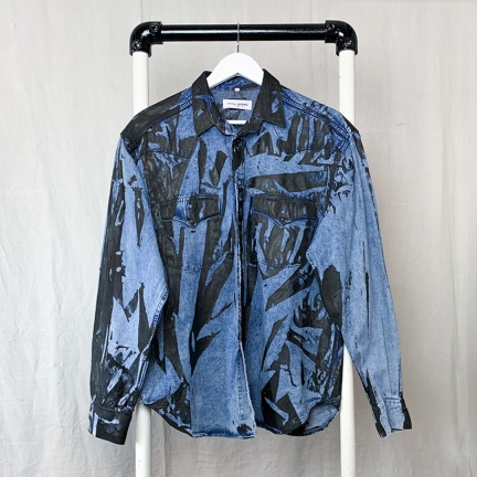 screen printed denim shirt